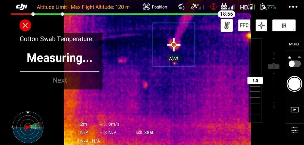 kalibracaja drona DJI