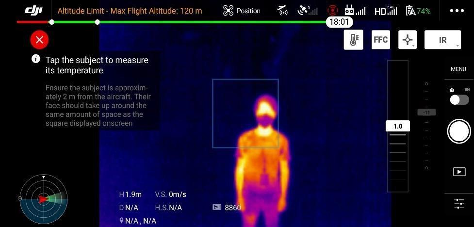 pomiar temperatury ciała - Koronawirus