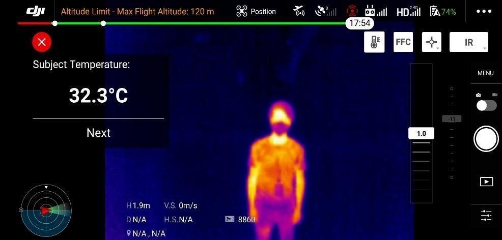 pomiar temperatury ciała  krok 3