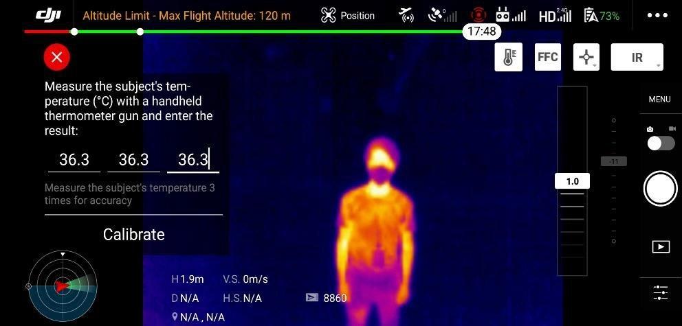 mierzenie temperatury w Mavic 2 Enterprise Dual