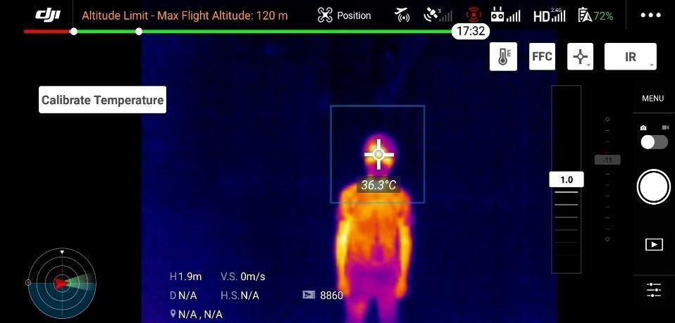 badanie temperatury ciała za pomocą drona