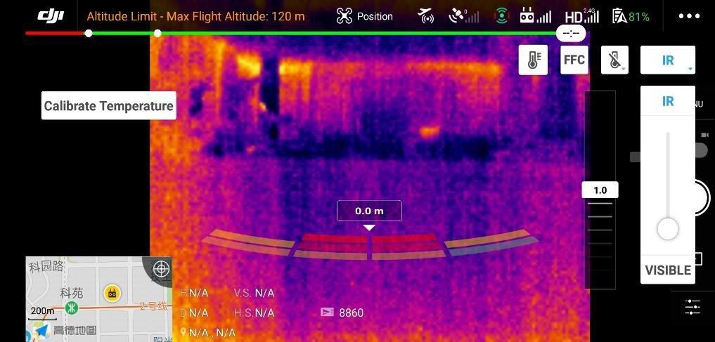 badanie temperatury za pomocą drona DJI - Kronawirus