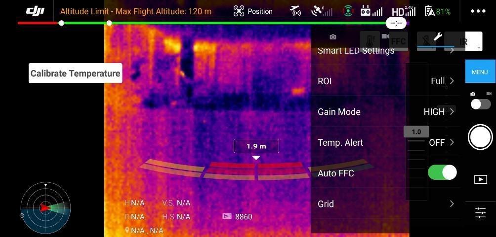 badanie temperatury za pomocą drona