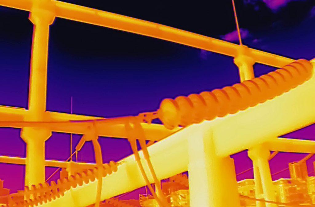 DJI Mavic 2 Enterprise Advanced podgląd z kamery termowizyjnej