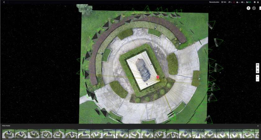 model orto wykonany z wielu zdjęć