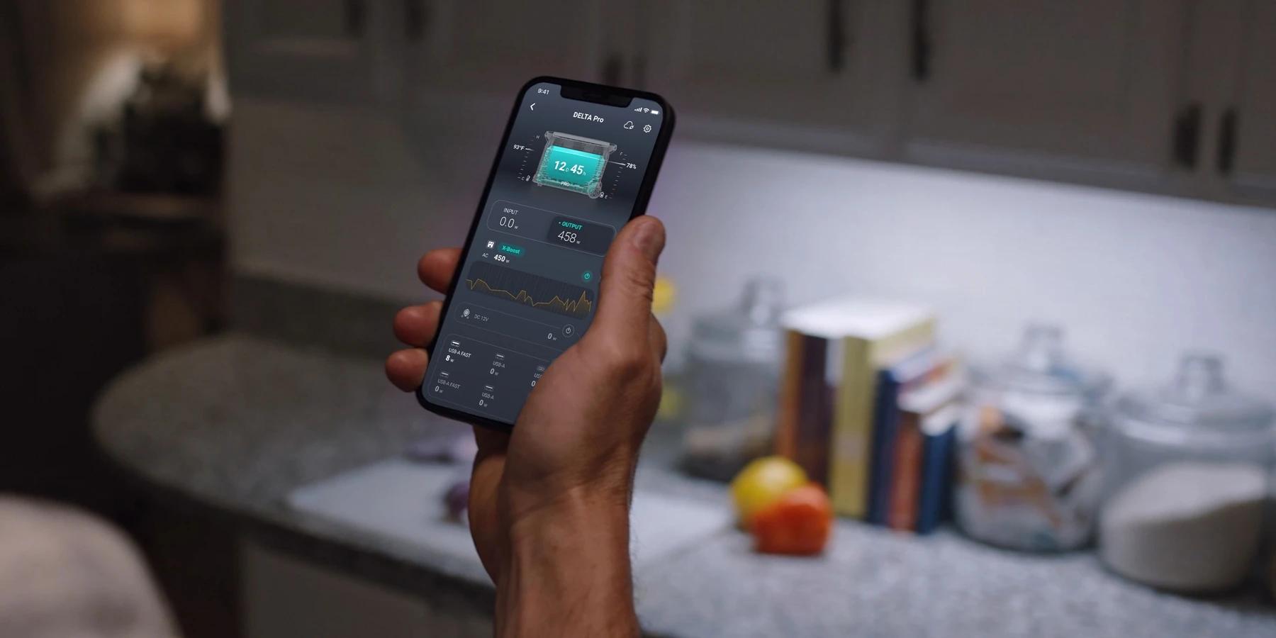 aplikacja ecoflow delta pro, kontrola i monitorowanie
