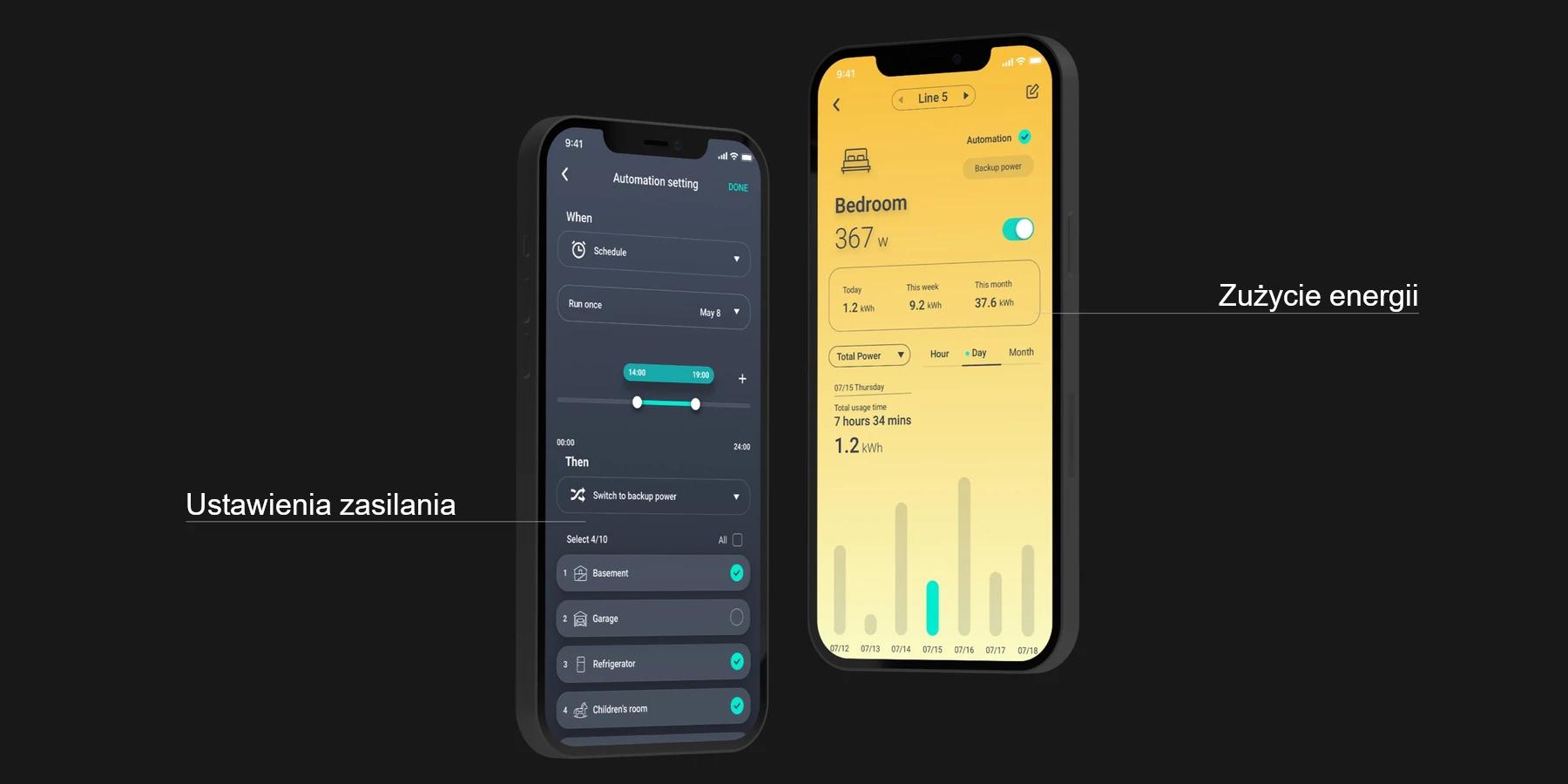 Inteligentne zarządzanie energią w aplikacji delta pro