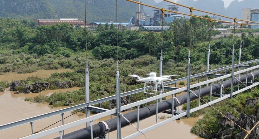 automatyczna inspekcja mostów za pomocą drona dji phantom 4 rtk